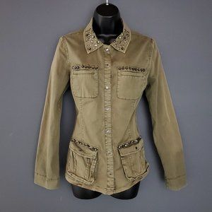 GUESS Military Shirt Jacket Cargo Spring Coat